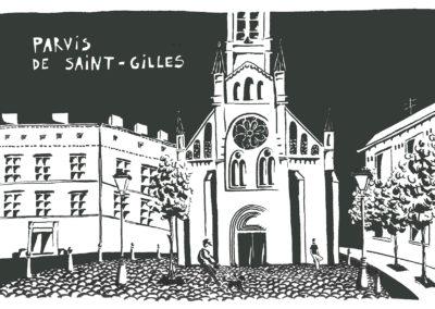 Parvis de St-Gilles
