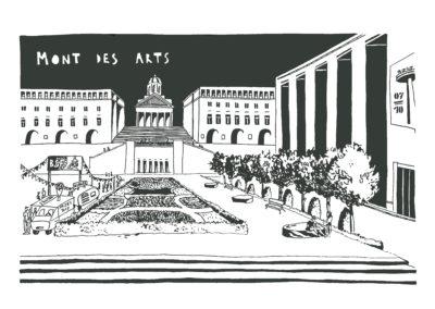 Mont des Arts, Verso