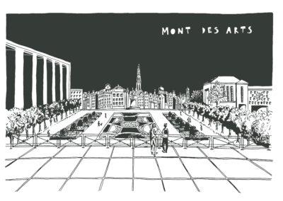 Mont des Arts, Recto